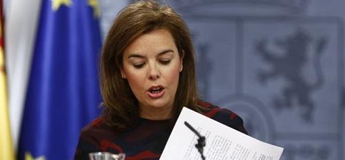 La vicepresidenta del Gobierno no aclara si el Gobierno aprobar� en solitario la reforma electoral local