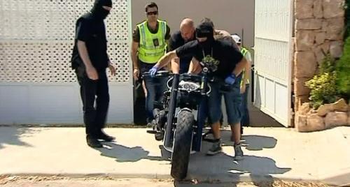 Audiencia Nacional subasta siete motos de los '�ngeles del Infierno' valoradas en m�s de 50.000 euros