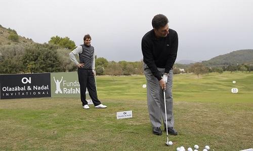 Nadal y Olaz�bal disputan en Mallorca un torneo de golf solidario