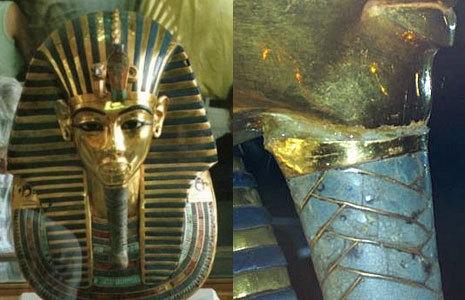 La m�scara de Tutankam�n, restaurada con pegamento