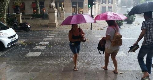 Las lluvias intensas afectarán hoy al sur de Baleares