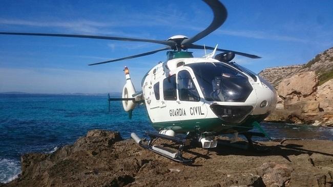 Guardia Civil transporta a Son Espases en helicóptero a un bebé tras una caída en sa Calobra