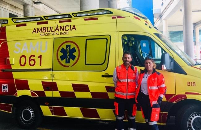 El 061 incorpora una nueva ambulancia en horario nocturno en Palma