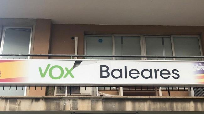 Apedrean la sede VOX en Palma