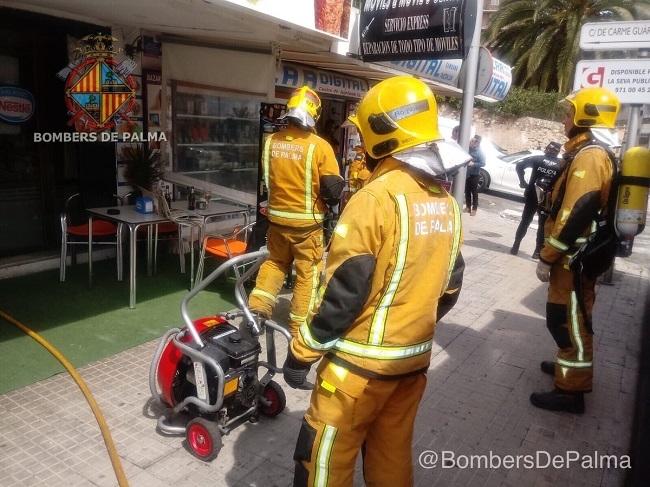 Incendio en la cocina de un restaurante en Palma