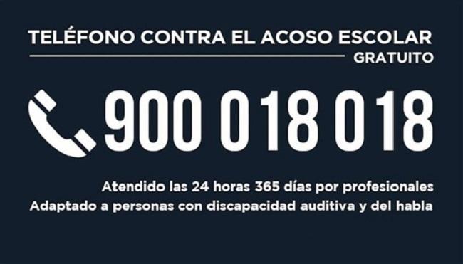 El teléfono contra el acoso escolar recibió 12.799 llamadas