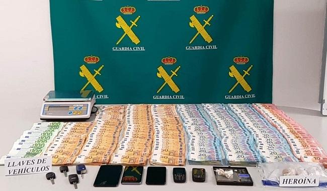 La Guardia Civil desmantela una red de introducción y distribución de Heroína en la Isla de Menorca