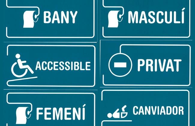 La Conselleria de Cultura pone a disposición de bares y restaurantes letreros de señalización en catalán