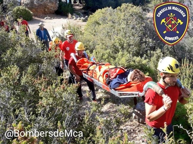Bombers de Mallorca efectuaron ayer dos rescates