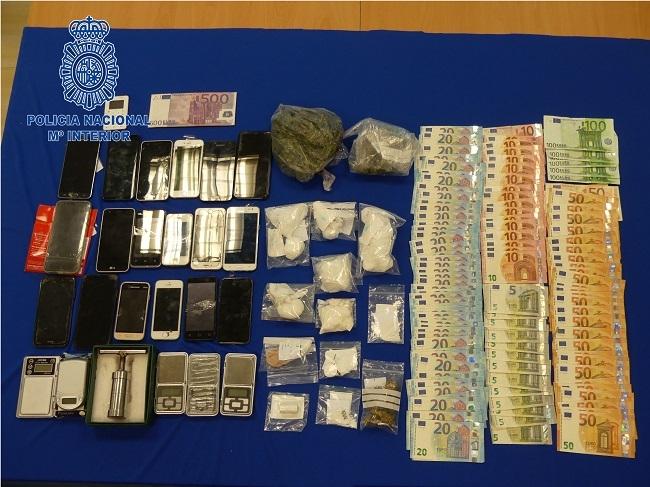 La Policía Nacional detiene a seis personas por delitos de tráfico de sustancia estupefaciente
