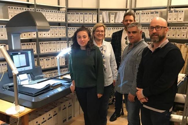 Ja està en marxa una nova fase de digitalització de l'arxiu de Santanyí