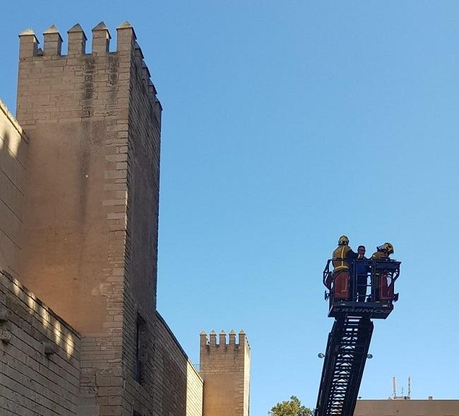 Simulacro de incendio en el Palacio de la Almudaina