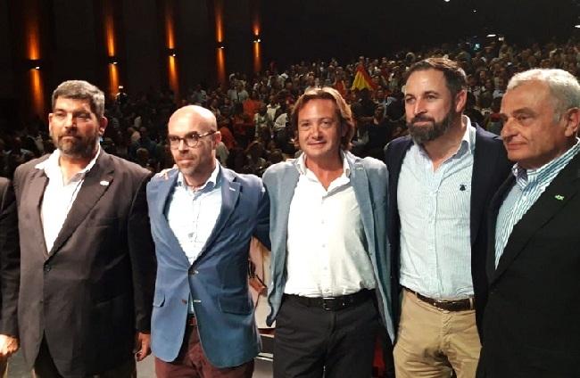 """Santiago Abascal, en Palma: """"hay que votar para detener el pancatalanismo separatista en Baleares"""""""