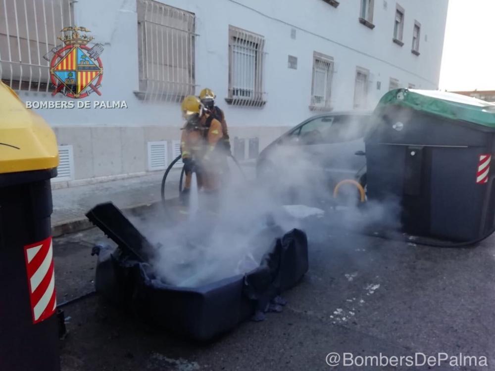 Queman otro contenedor en Palma