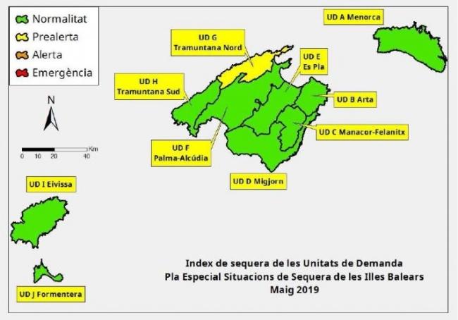 Las reservas hídricas de las Illes Balears se sitúan en el 58 %