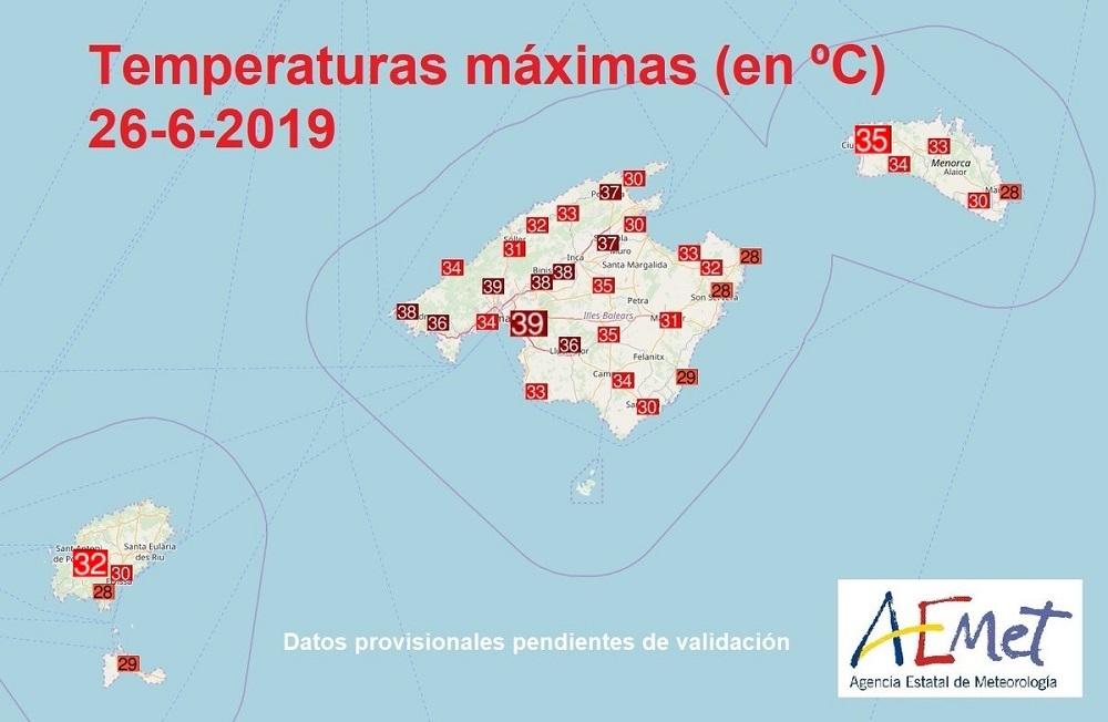 Este jueves continúa el calor y alertas en las Baleares
