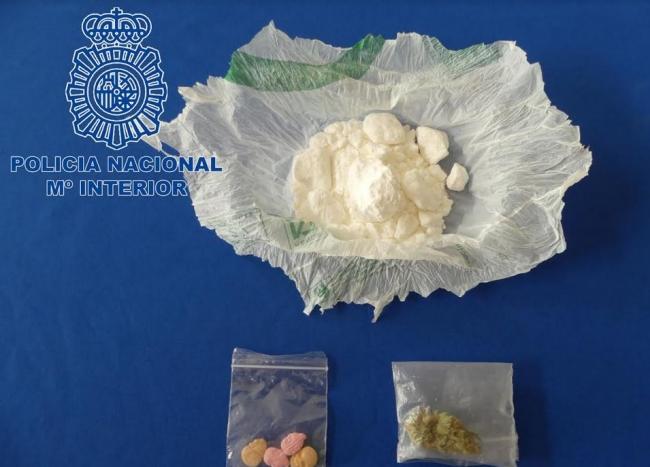 La Policía Nacional de Ibiza detiene a un hombre con 40 g de cocaína