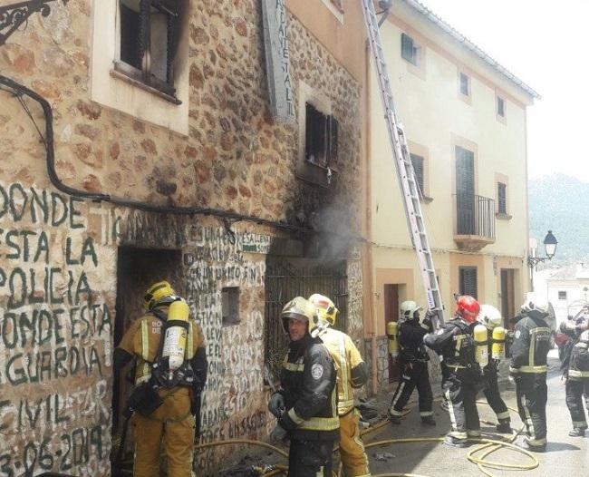 Incendio de una vivenda en Bunyola