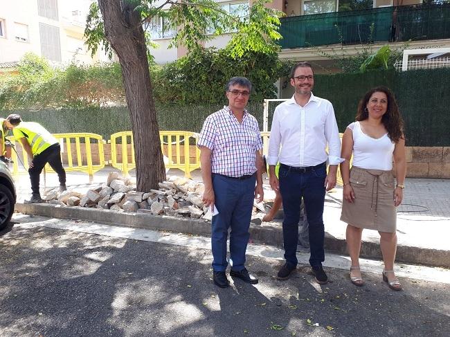 Emaya pone en marcha un plan para erradicar las hierbas de las aceras barrio a barrio