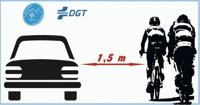 El 86% de los conductores españoles respeta la distancia de seguridad al adelantar a los ciclistas en carretera