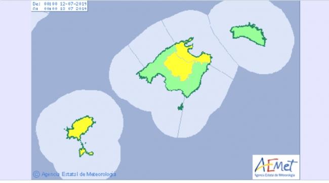 Mañana viernes alerta amarilla por altas temperaturas