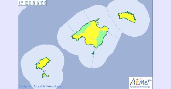 Mañana jueves alerta amarilla por altas temperaturas en las islas