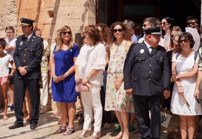 Catalina Cladera asiste a los actos de las fiestas de Sant Jaume 2019 en Algaida