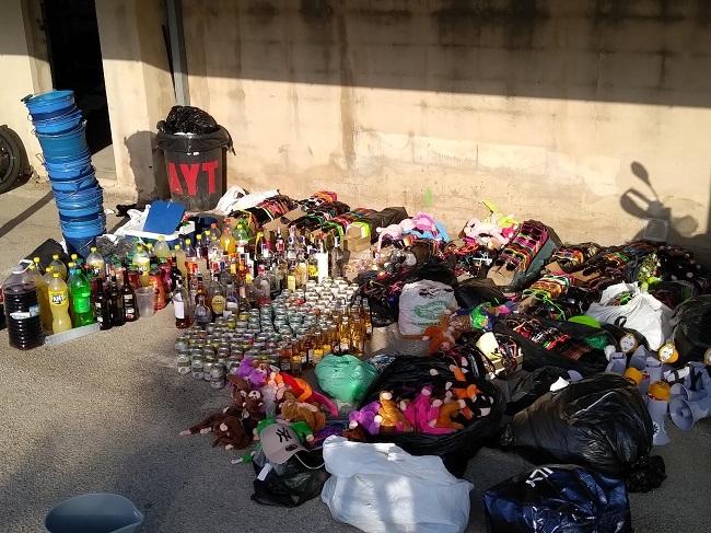 El Ayuntamiento de Llucmajor procede a la eliminación de material incautado en el mes de Junio por la Policía Local