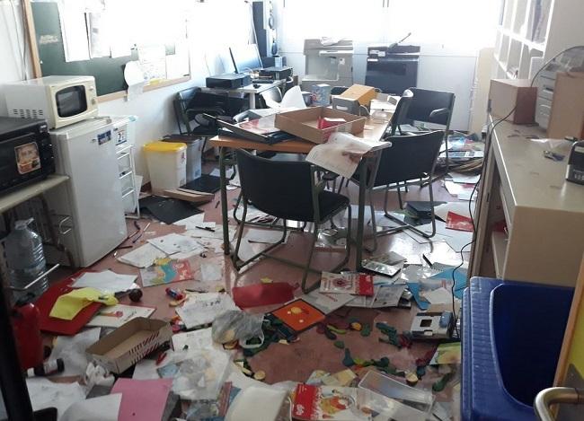 Robo y actos vandálicos este fin de semana en el CEIP Es Puig de Lloseta