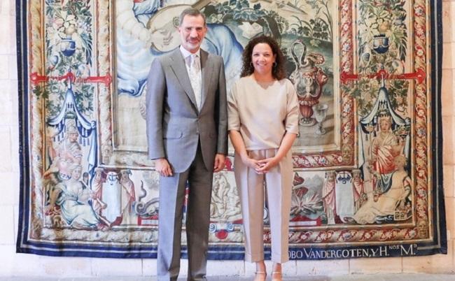 La presidenta Cladera expone a SM el Rey Felipe VI los principales retos del Consell