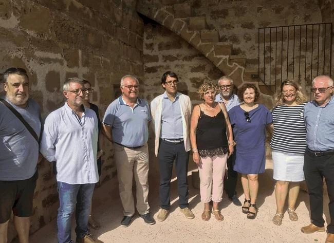 Inaugurado el nuevo tramo de la murada medieval en Alcúdia, financiada con la recaudación del ITS