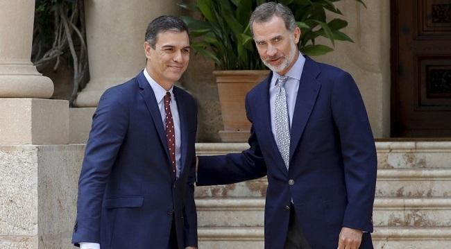 Pedro Sánchez acude al habitual despacho de verano con el Rey Felipe VI