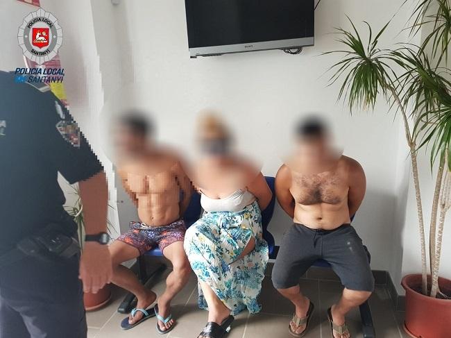 Tres detenidos por varios robos en Cala d'Or