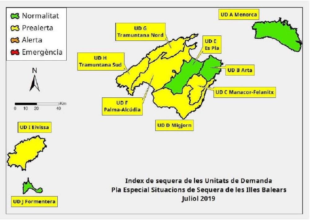 Las reservas hídricas de las Illes Balears se sitúan en el 51 %