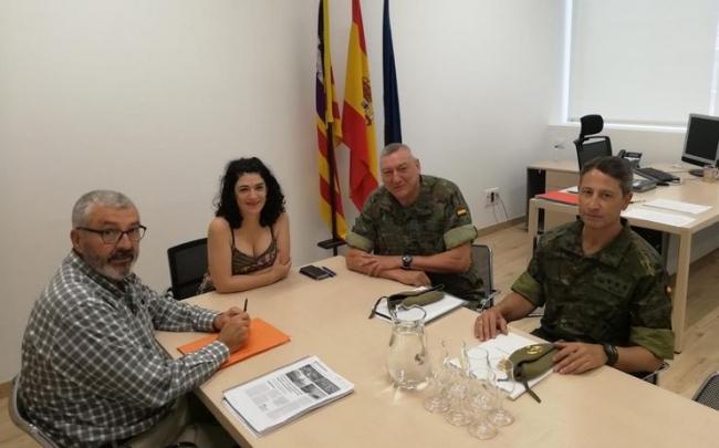 La Comandancia General de Baleares y el Govern reforzarán las vías de colaboración en situaciones de emergencia