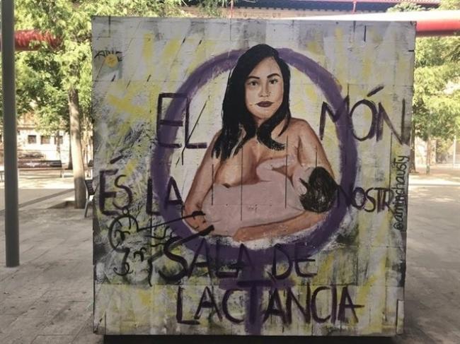 El Ayuntamiento de Palma condena las pintadas vandálicas en un mural en la Plaza del Tubo