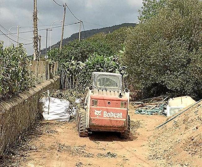 Empiezan las obras de ensanchamiento de la calle des Jondal, en el barrio de ca n'Escandell