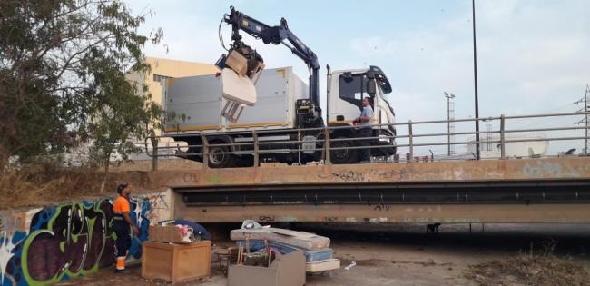 Desmantelado y retirado un asentamiento ilegal situado en el torrente de sa Llavanera (Ibiza)