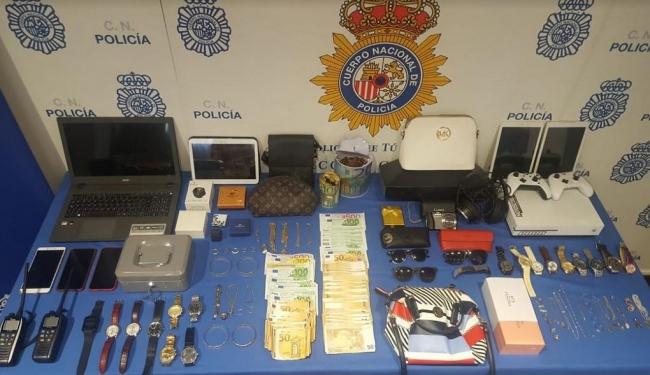 Desarticulado un grupo muy activo dedicado a robos con fuerza en domicilios