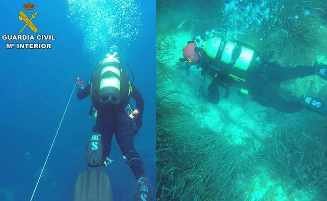 La Guardia Civil localiza un cepo romano y un ancla en el fondo marino del norte de Mallorca
