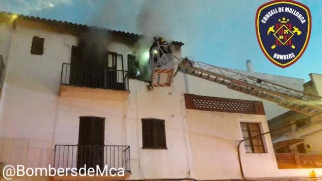 Incendio en una vivienda de Porto Cristo y otro en Inca