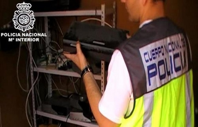 La Policía Nacional desmantela un centro de distribución fraudulenta de contenidos audiovisuales y canales de pago
