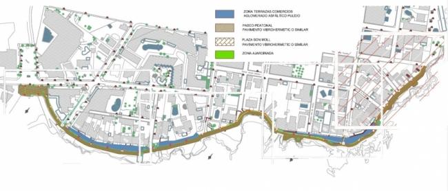 El proyecto de reforma del paseo marítimo de Cala Rajada elimina 642 m2 de zonas verdes