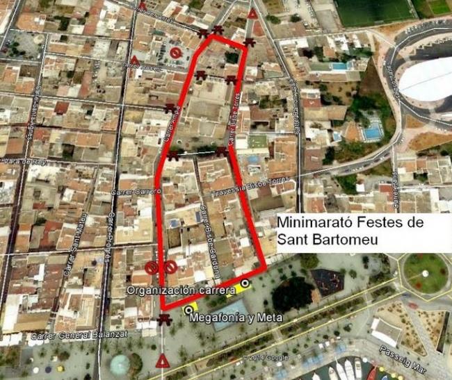 """Carrera  Atletica  Popular 41º  mini  maraton """"festes  de  Sant  Bartomeu"""""""