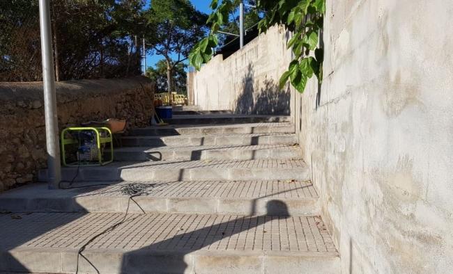 Abren un acceso directo en la calle Joan de Saridakis para los vecinos de las calles Puig d'Alaró y Puig de Randa