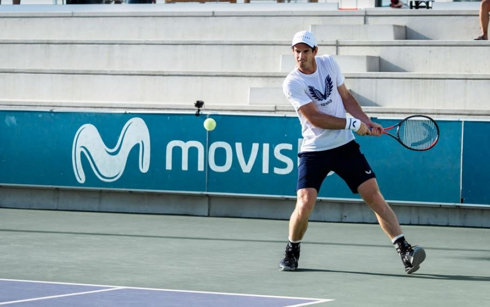 Andy Murray en Manacor, listo para el Rafa Nadal Open