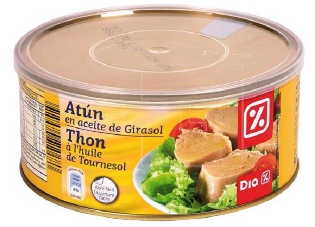 Alerta sanitaria por una toxina botulínica en el atún en aceite de girasol de la marca DIA
