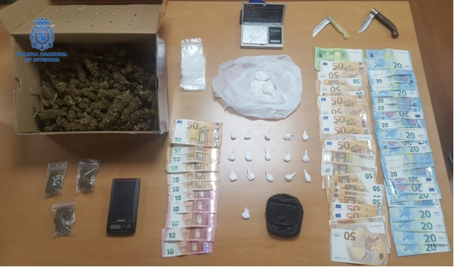 La Policía Nacional detiene a dos personas que suministraban droga a locales de ocio y bares