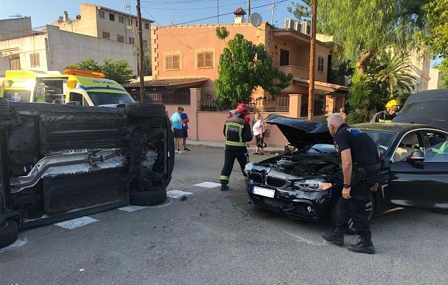 Aparatoso accidente en S'illot, vecinos piden más presencia policial