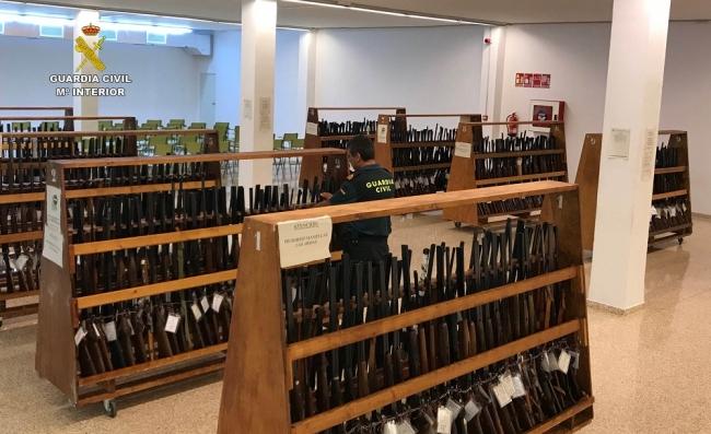 La Guardia Civil llevará a cabo una nueva subasta de armas